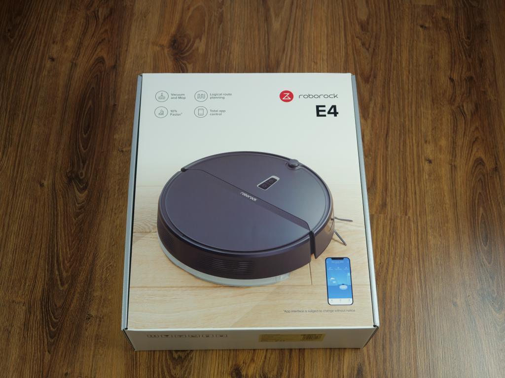 Roborock E4 - recenzja robota sprzątającego w świetnej cenie - pudełko