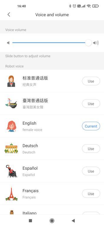 wybór języka w aplikacji