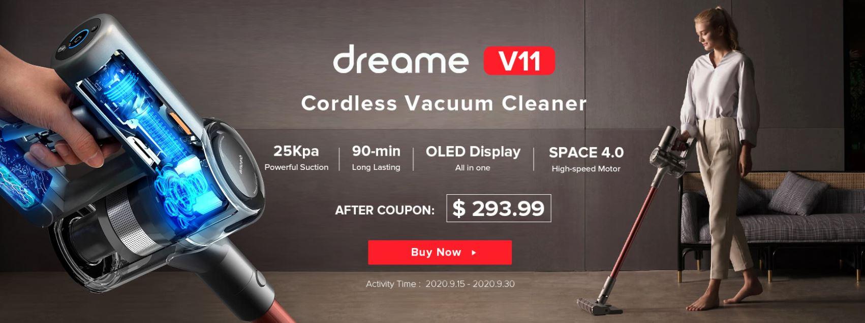 Promocja Dreame V11 na geekbuying.com - kod rabatowy
