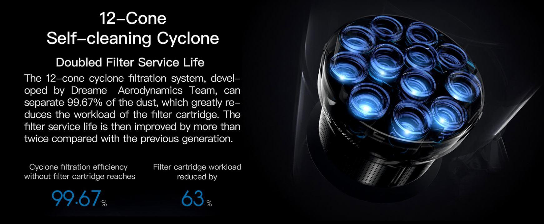 Promocja Dreame V11 na geekbuying.com - system cyklonowy