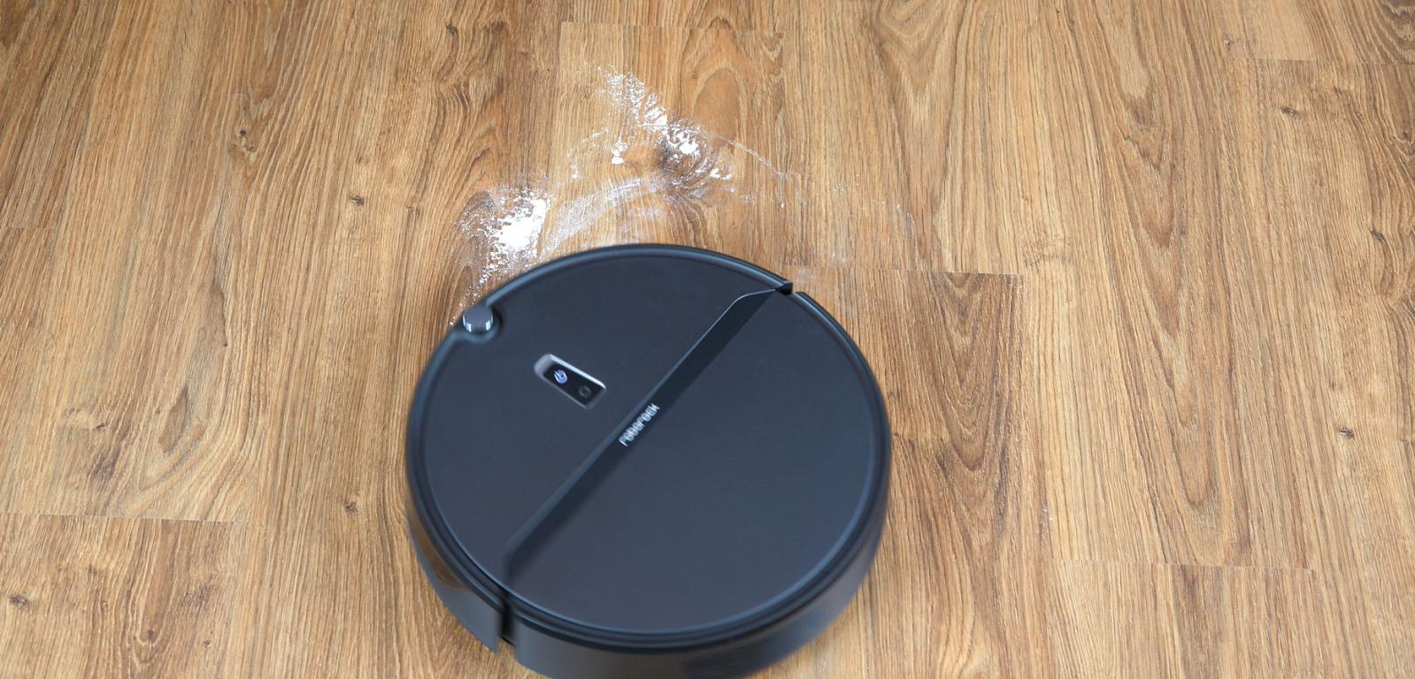 Roborock E4 - odkurzanie mąki