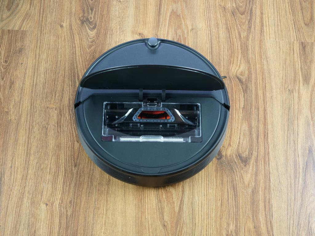 Roborock E4 - recenzja robota sprzątającego w świetnej cenie - pojemnik pod klapką