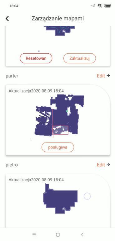 aplikacja WeBack - zapisywanie wielu map na różne piętra