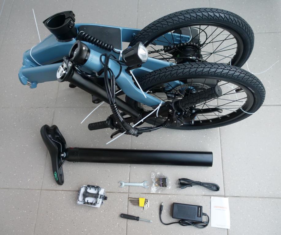 Fiido D11 - recenzja roweru elektrycznego - zestaw