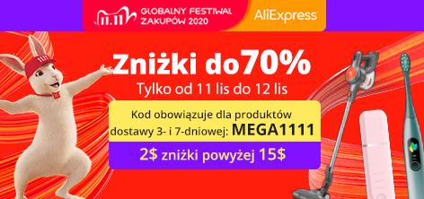 Kod zniżkowy Aliexpress przy dostawie 3- i 7-dniowej - $2 rabatu