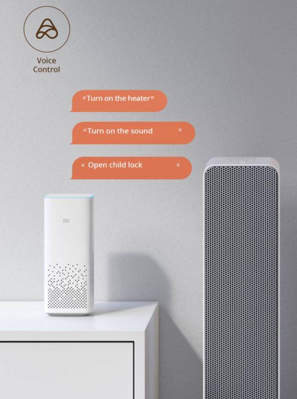 Smartmi Electric Air Heater - sterowanie głosowe