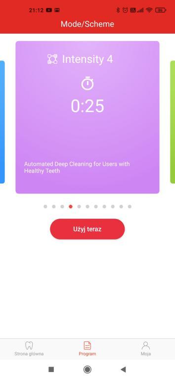 aplikacja Oclean - ustawienia
