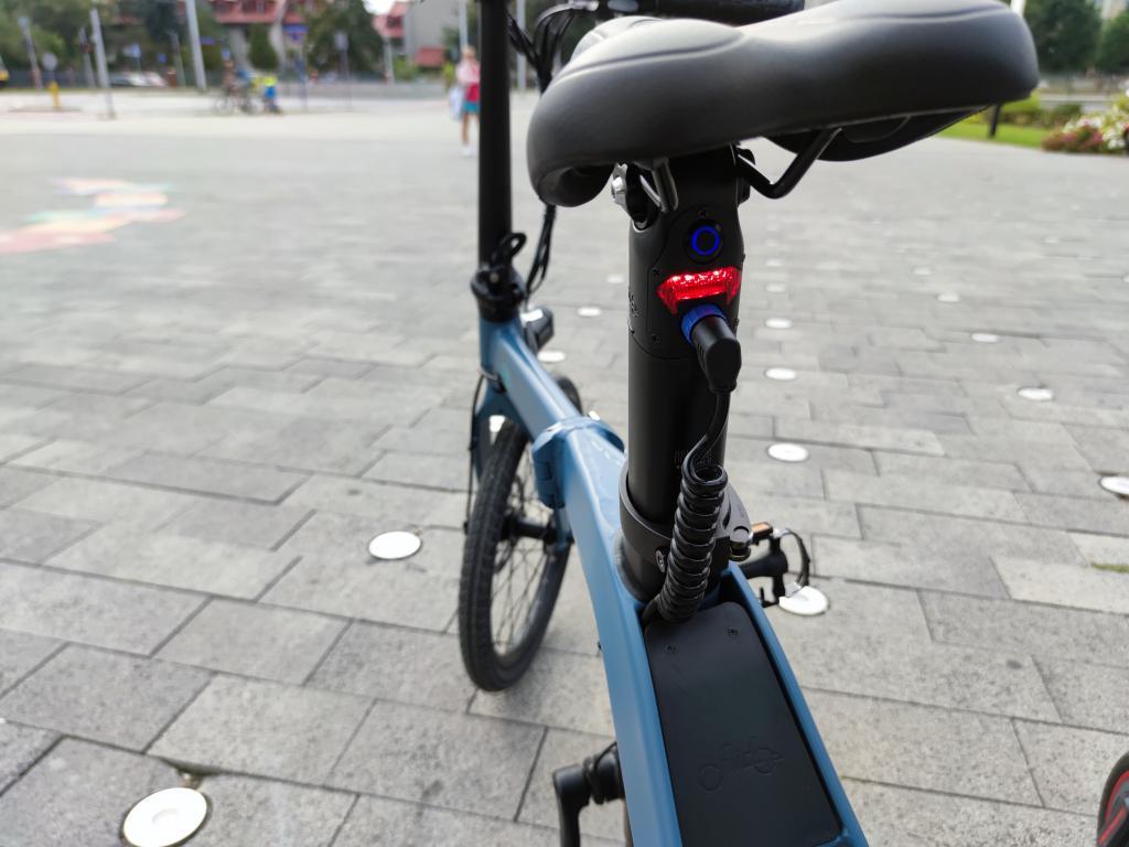 Fiido D11 - recenzja roweru elektrycznego o ogromnym zasięgu - zasilanie