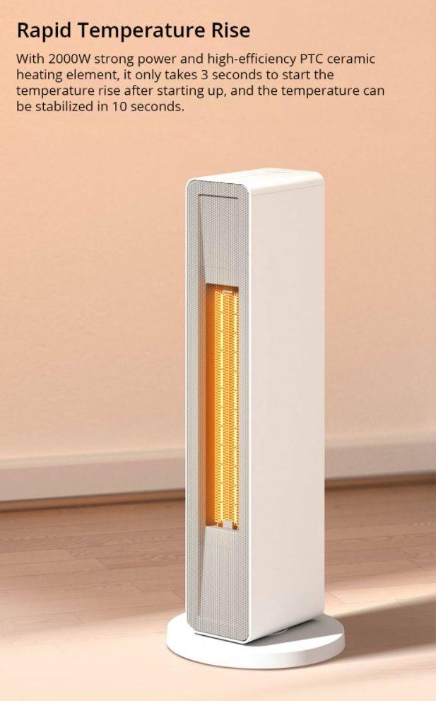 Smartmi Electric Air Heater - szybkie grzanie powietrza grzałką ceramiczną