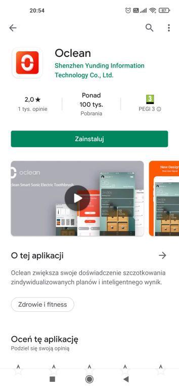 aplikacja Oclean