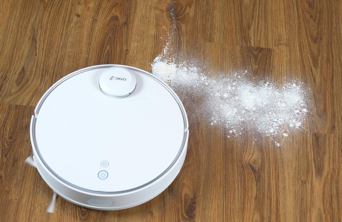odkurzanie mąki w trybie MAX