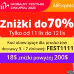 Kod rabatowy Aliexpress na 11.11 - FEST1111