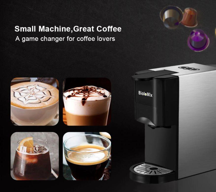 Pomysły na prezent świąteczny z Aliexpress dla niej - ekspres ciśnieniowy do kawy BioloMix