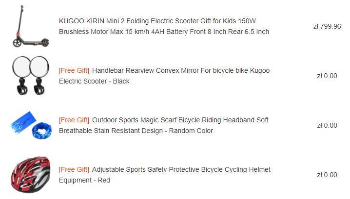 Kugoo Kirin Mini2 - promocja młodzieżowej hulajnogi elektrycznej - gratisy