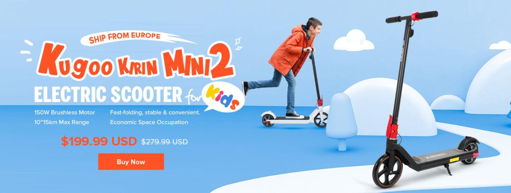 Kugoo Kirin Mini2 - promocja młodzieżowej hulajnogi elektrycznej - wyprzedaż