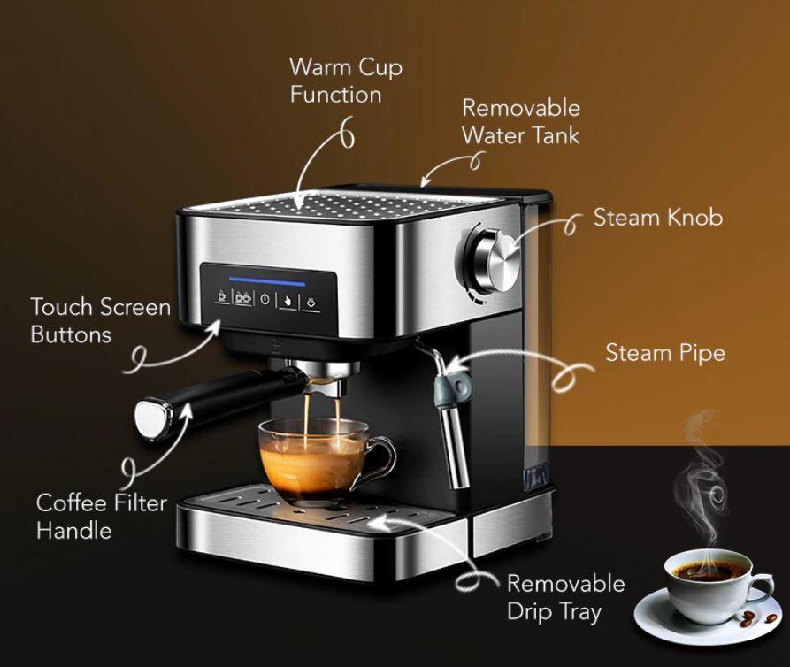Sprzęty kuchenne BioloMix z Aliexpress - ekspres do kawy BioloMix