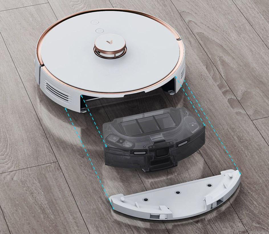 Viomi S9 - pojemniki na kurz i wodę