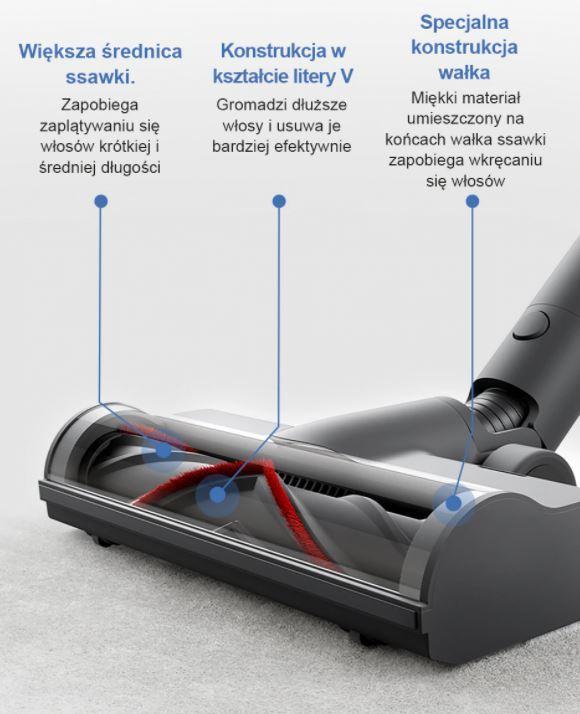 odkurzacz pionowy Dreame T20 z Aliexpress - szczotka do podłóg