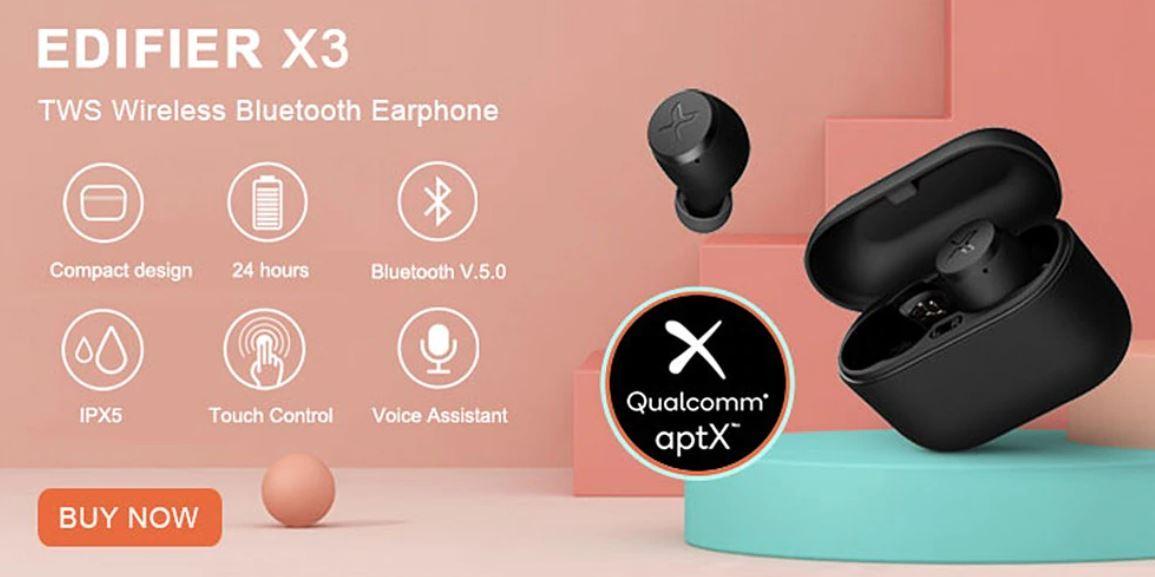 promocja 11 listopada na Aliexpress - okazje na ostatnią chwilę - słuchawki Bluetooth Edifier X3