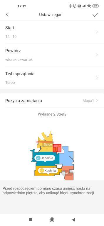 Aplikacja Xiaomi Home - harmonogram pracy