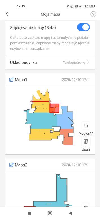 Aplikacja Xiaomi Home - obsługa do 4 pięter