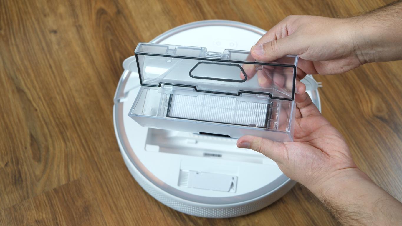 Roborock S6 Pure - recenzja robota sprzątającego - pojemnik na kurz i filtr HEPA
