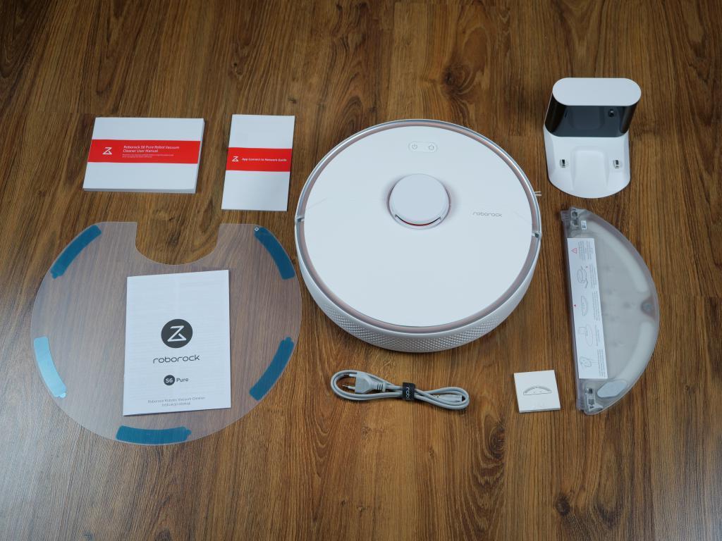 Roborock S6 Pure - recenzja robota sprzątającego - zestaw