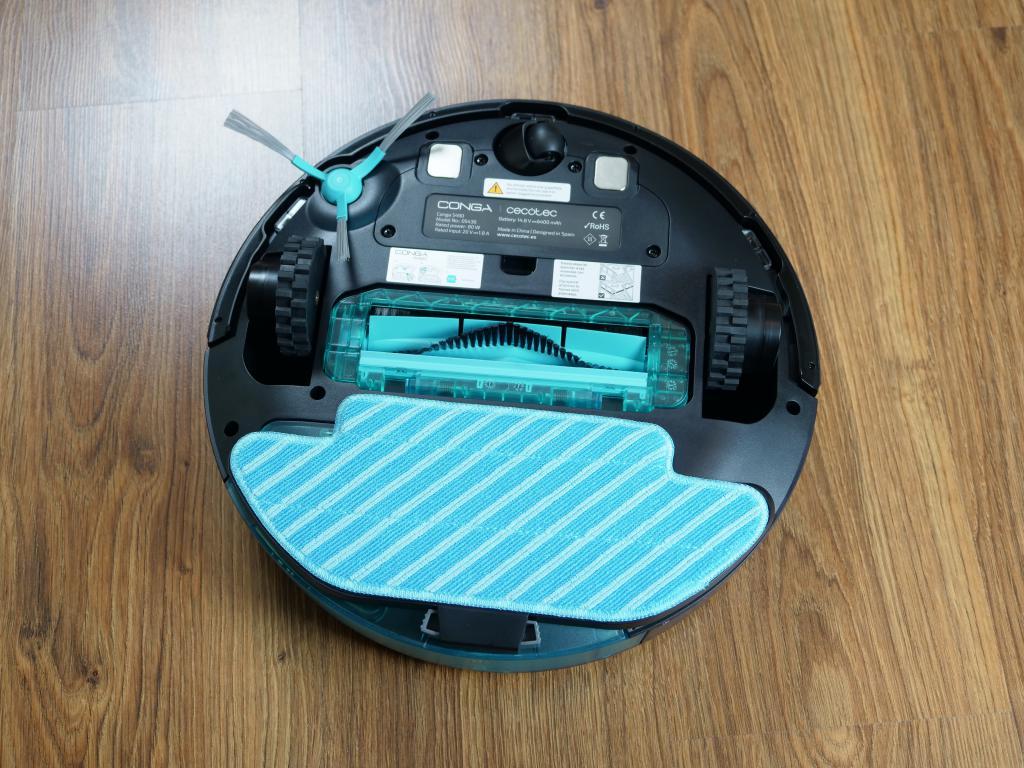 Cecotec Conga 5490 - recenzja robota sprzątającego o ogromnej mocy - szczotka hybrydowa z mopem