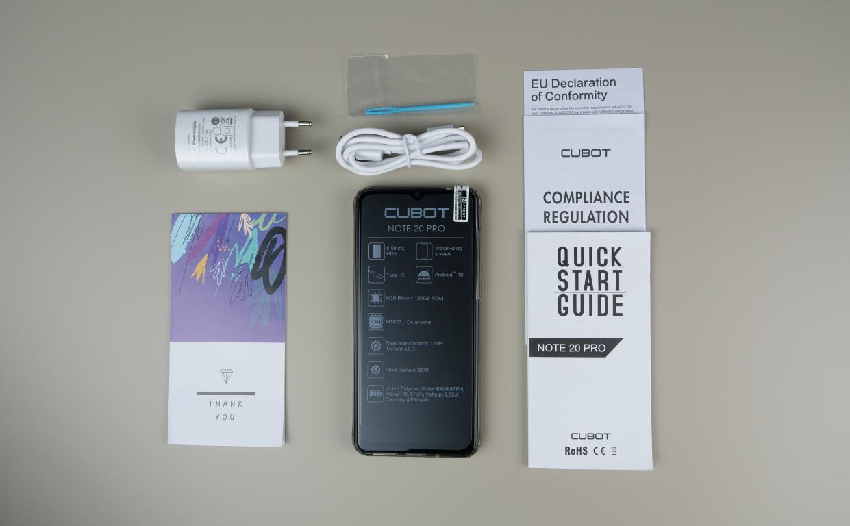 Cubot Note 20 PRO - recenzja smartfona z Aliexpress za 400 zł - zawartość zestawu