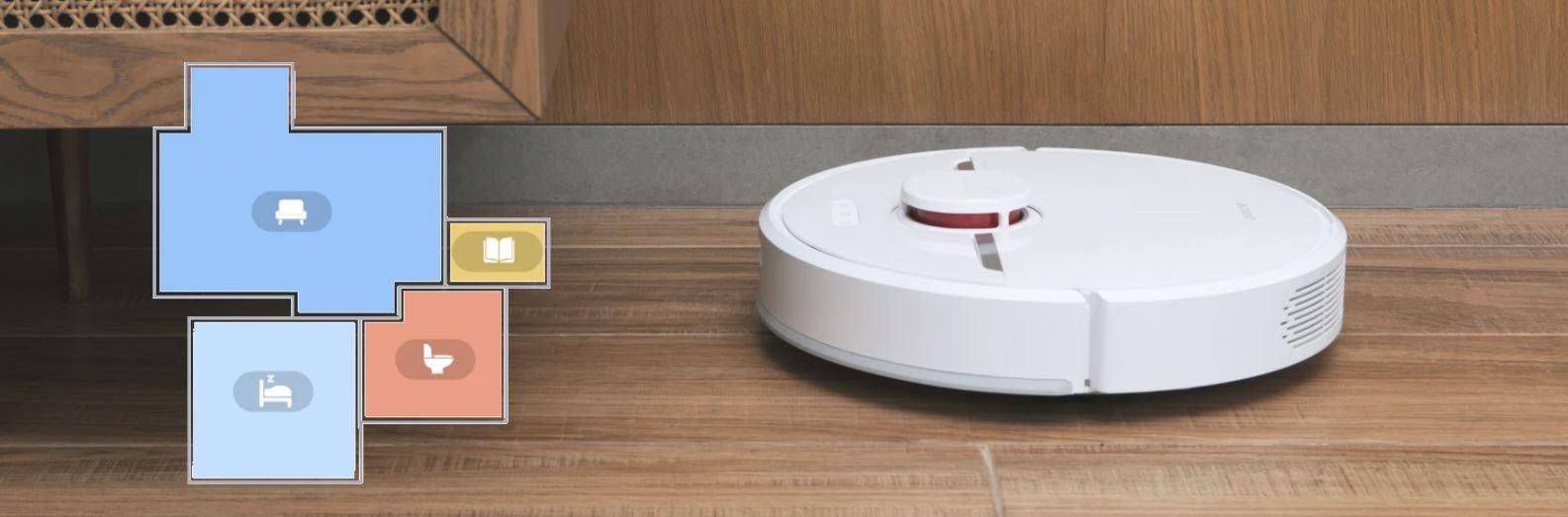 Dreame D9 - robot sprzątający - podział na pokoje