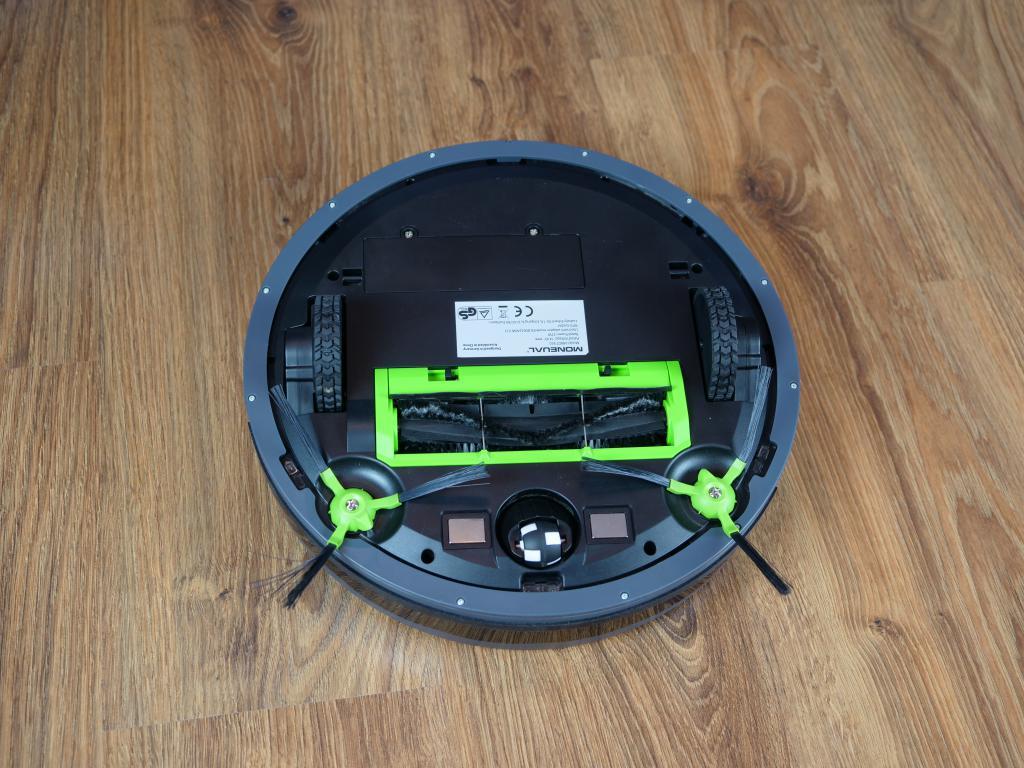 Moneual MBOT 950 - recenzja robota sprzątającego - budowa od spodu
