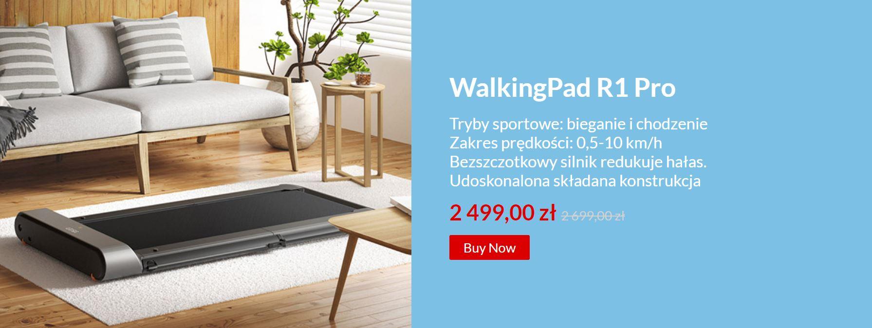 Noworoczna wyprzedaż sprzętu fitness - bieżnie i rowerki w super cenach - Walking Pad R1 PRO