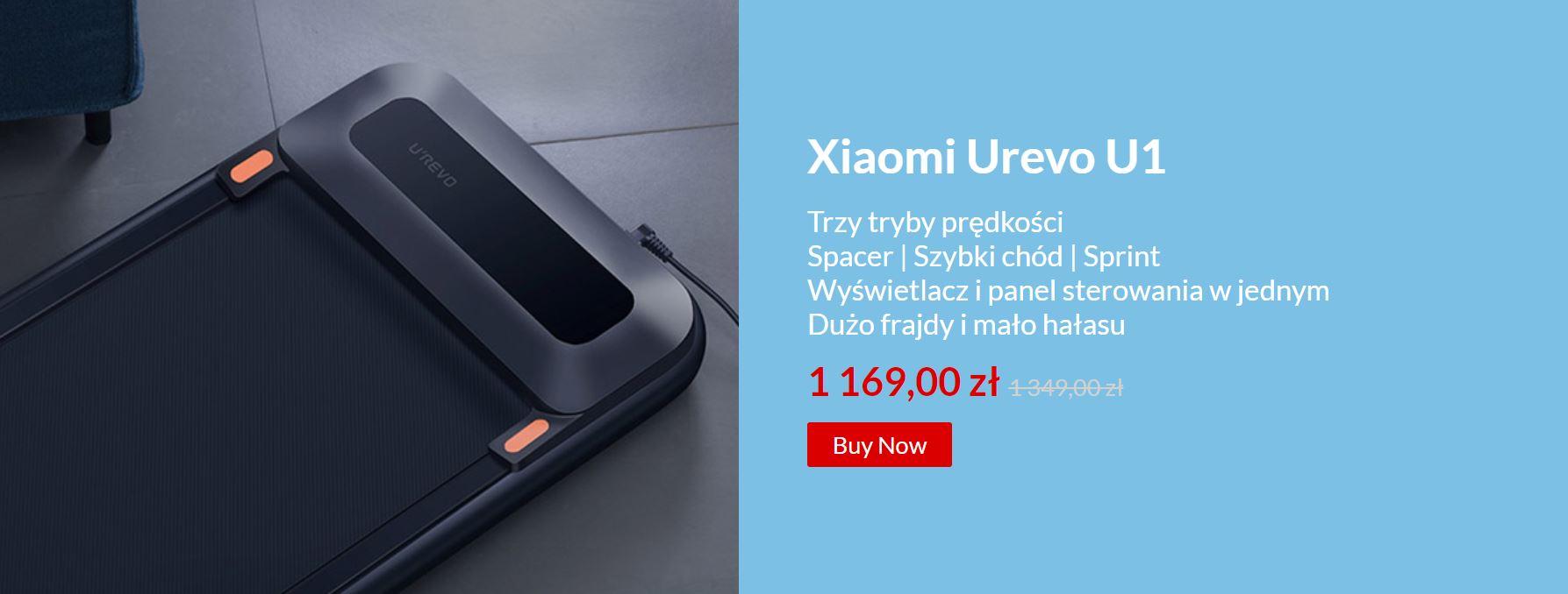 Noworoczna wyprzedaż sprzętu fitness - bieżnie i rowerki w super cenach - Xiaomi Urevo U1