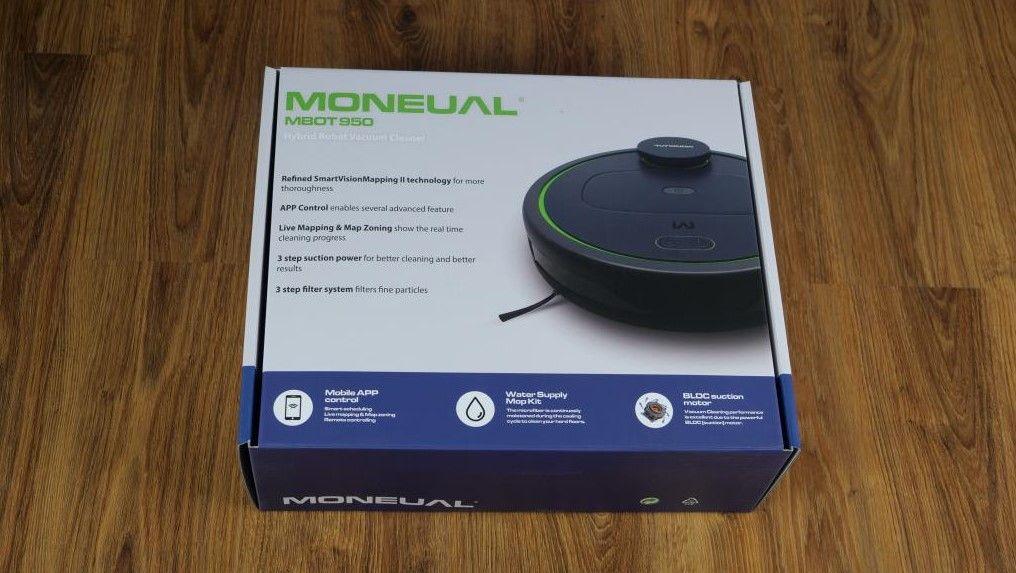 Moneual MBOT 950 - recenzja robota sprzątającego - pudełko