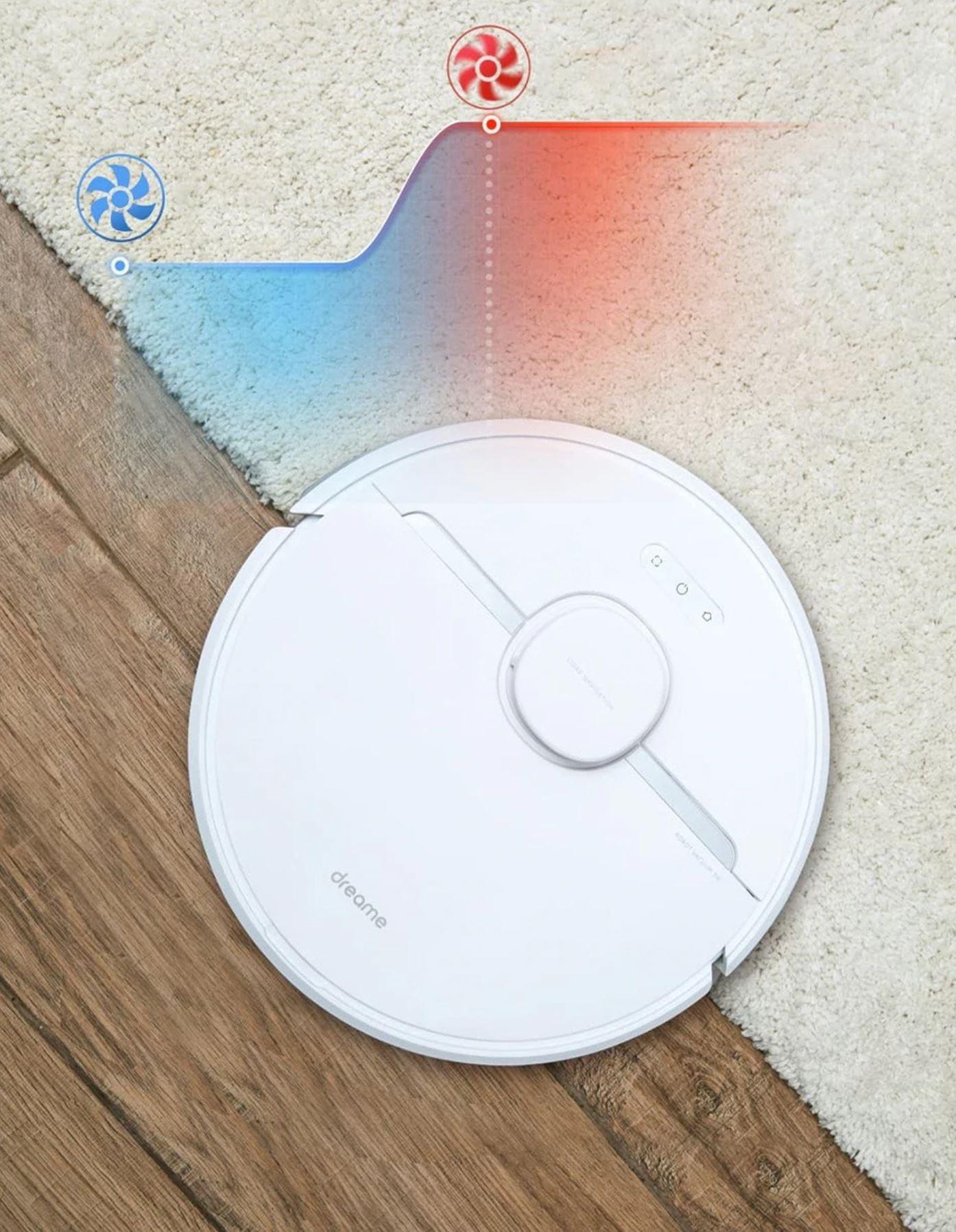 Dreame D9 - promocja - wykrywanie dywanów i zwiększanie mocy ssącej