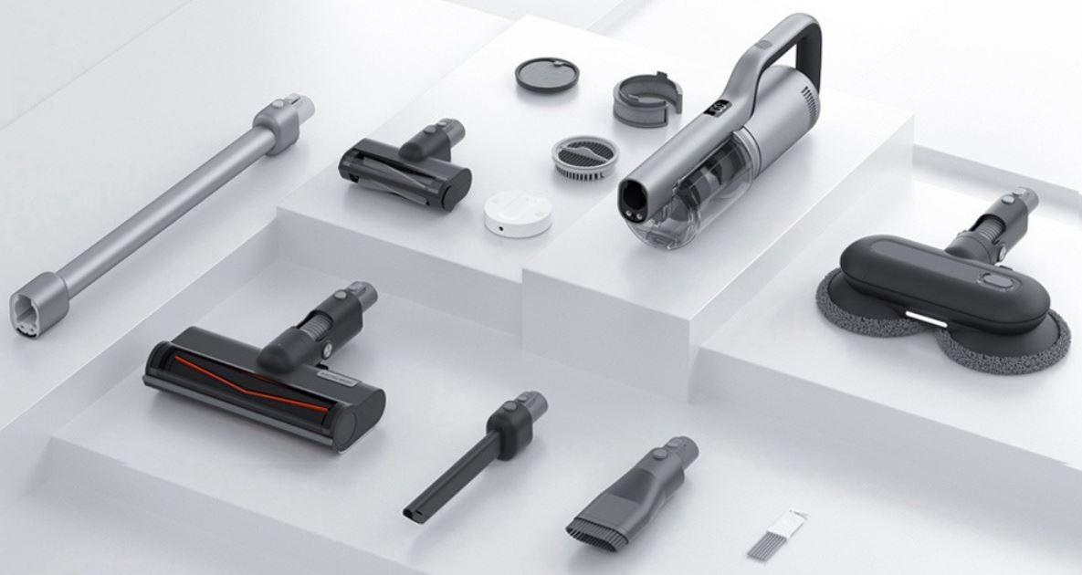 Roidmi Nex 2 Plus - nowy odkurzacz pionowy z mopowaniem - akcesoria