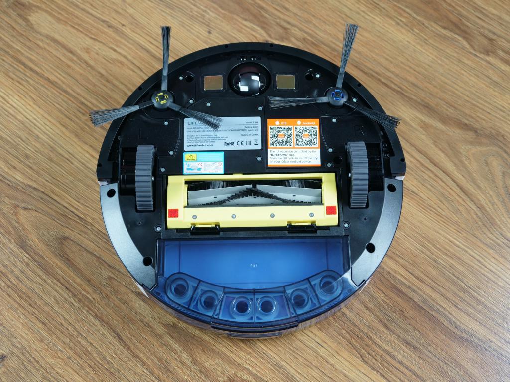 iLife L100 - recenzja robota sprzątającego - spód robota