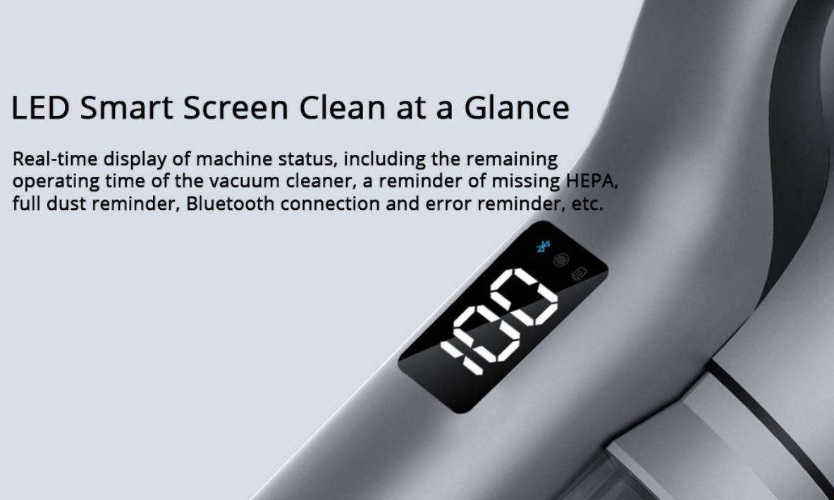 Roidmi Nex 2 Plus - nowy odkurzacz pionowy z mopowaniem - wyświetlacz LED