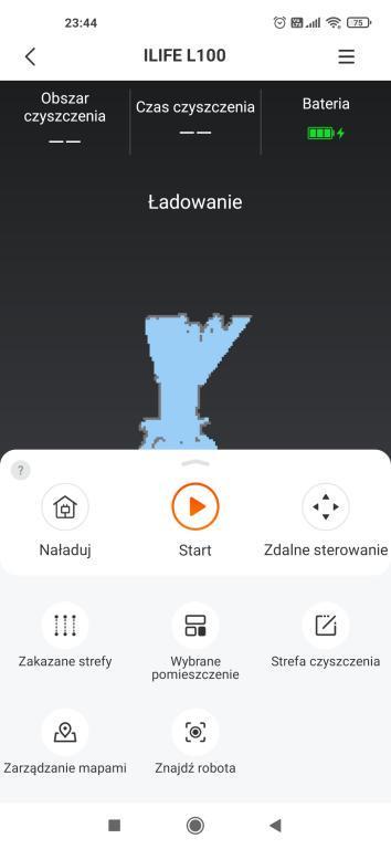 iLife L100 - aplikacja - wybór trybów