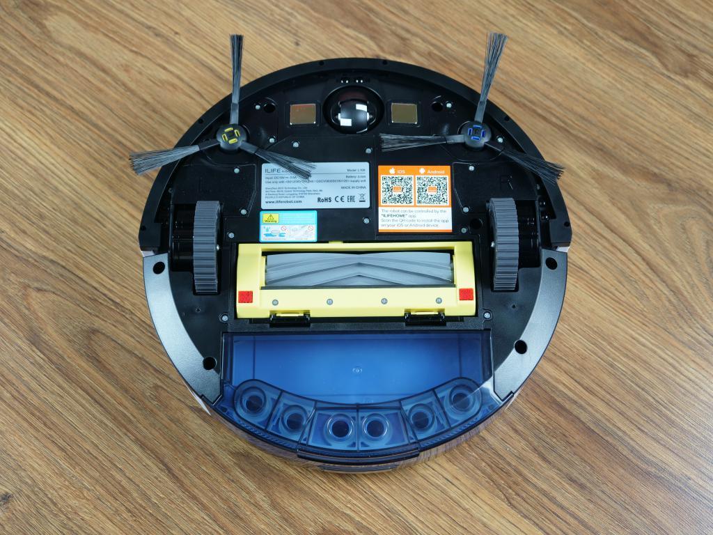 iLife L100 - recenzja robota sprzątającego - gumowa szczotka