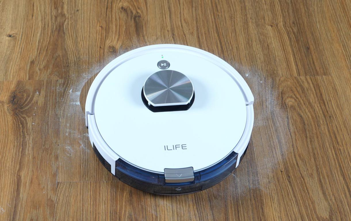 iLife L100 - recenzja robota sprzątającego - odkurzanie mąki