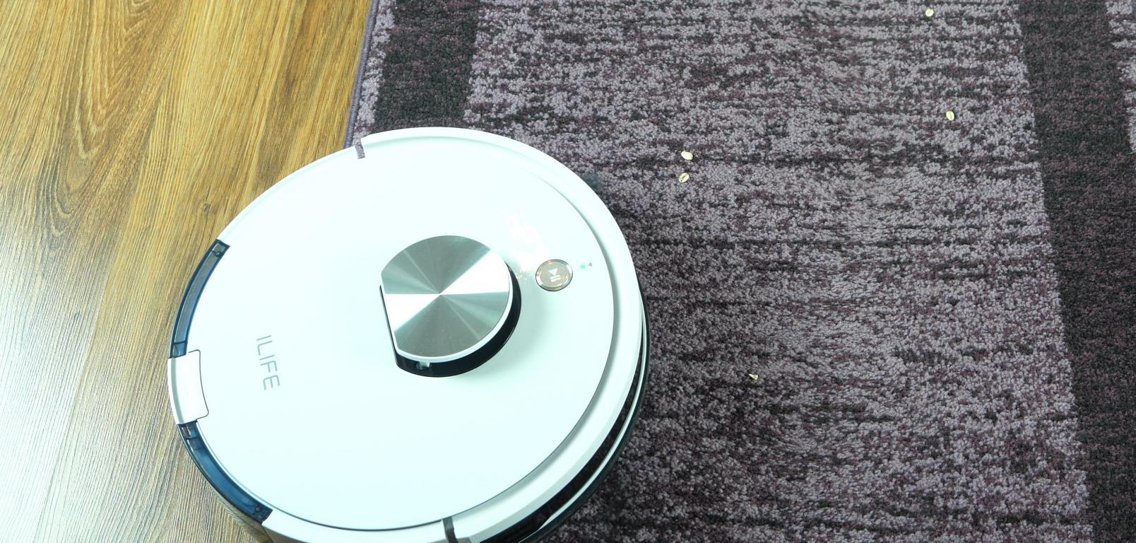 iLife L100 - recenzja robota sprzątającego - odkurzanie na dywanach