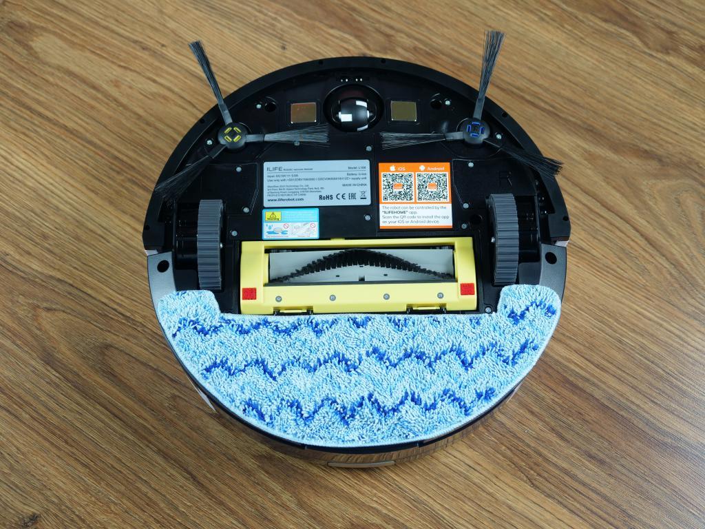 iLife L100 - recenzja robota sprzątającego - spód robota z mopem