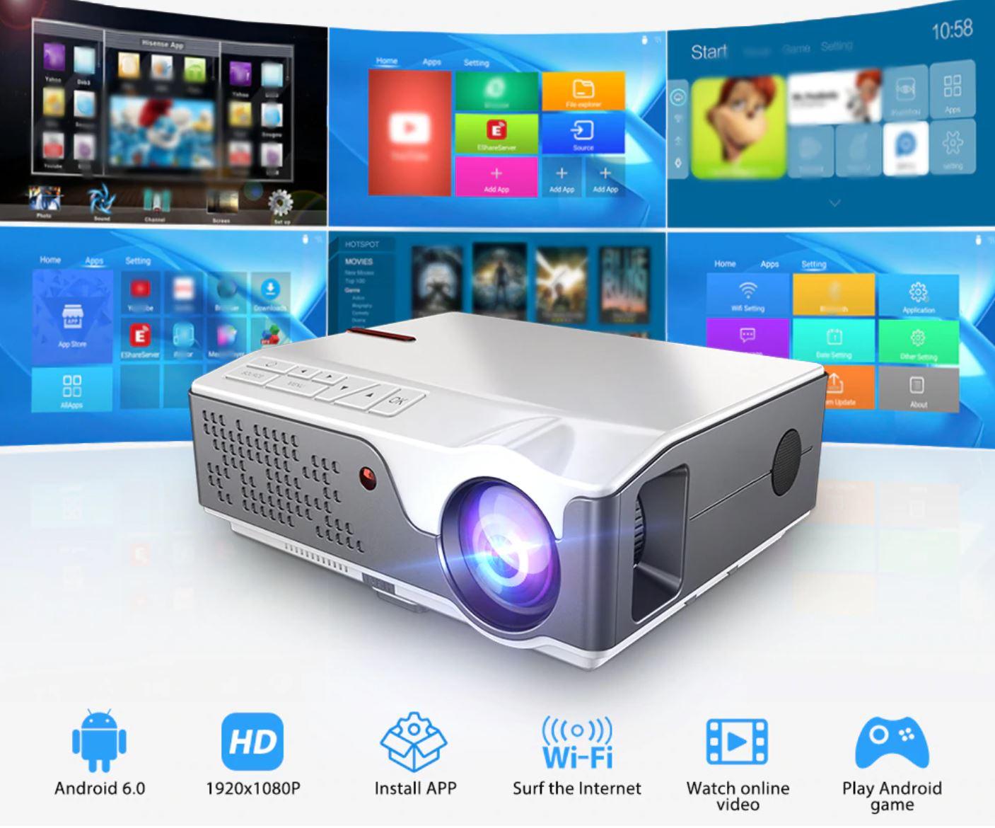 8 gorących produktów w rocznicowej ofercie Aliexpress - ThundeaL Full HD 1080P projektor TD96 TD96W