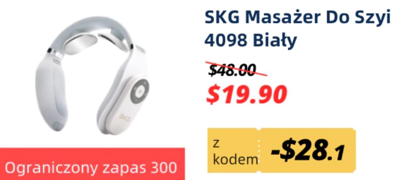 Obłędne oferty Aliexpress - SKG Masażer do szyi