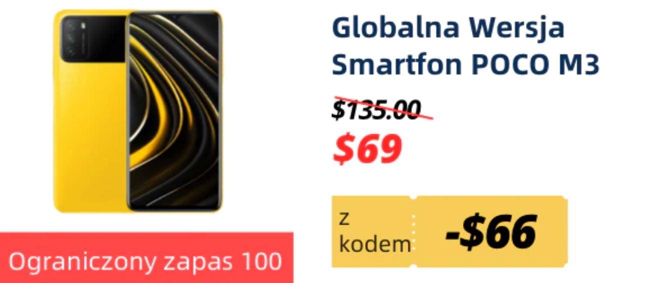 Obłędne oferty Aliexpress - Smartfon POCO M3