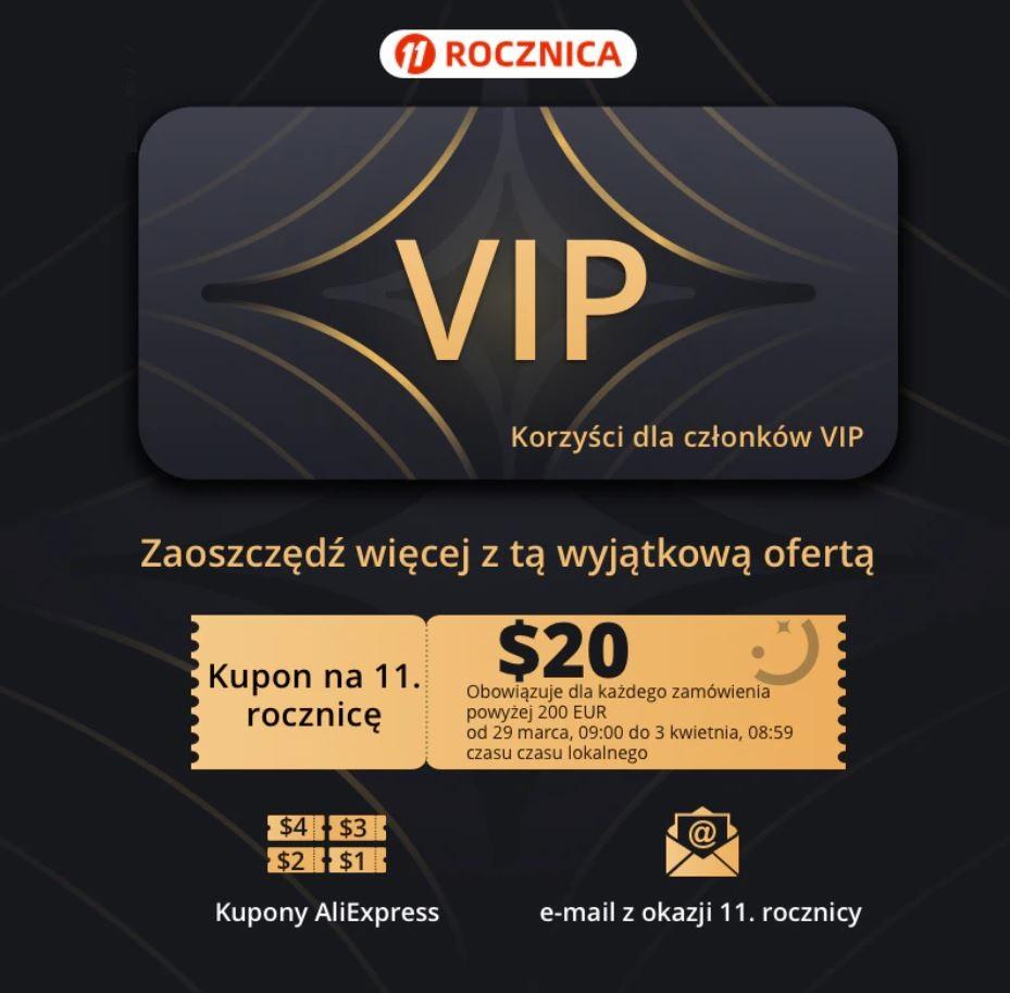 Promocja VIP SPECIALS Aliexpress