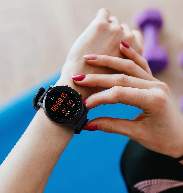 Smartwatche z Aliexpress - bogata oferta w rewelacyjnie niskich cenach - Haylou RT Smart Watch - stoper
