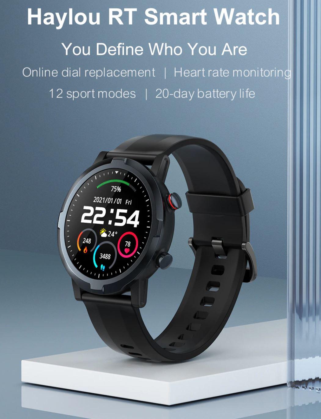 Smartwatche z Aliexpress - bogata oferta w rewelacyjnie niskich cenach - Haylou RT Smart Watch