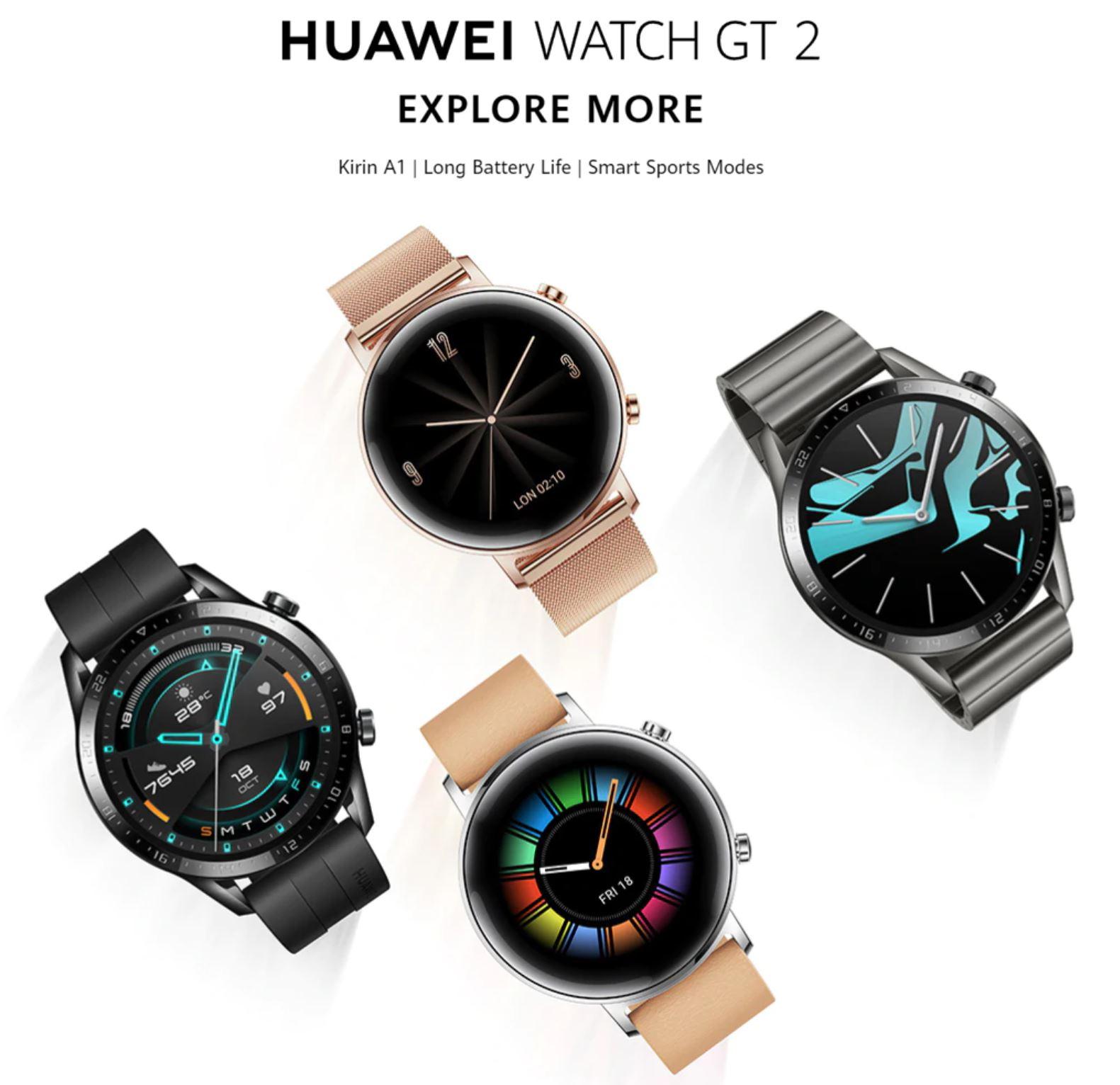 Smartwatche z Aliexpress - bogata oferta w rewelacyjnie niskich cenach - Huawei Watch GT 2